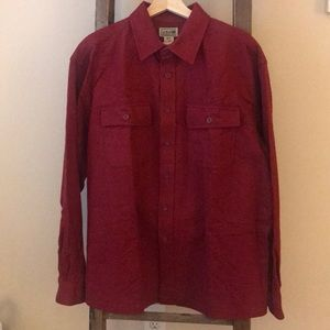 NW Men's Chamois button up flannel shirt